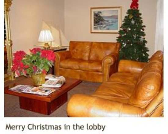 La Residence Suite Hotel: Lobby at Christmas