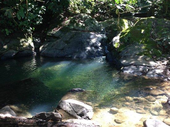 La Cusinga Eco Lodge: pozo swimming hole