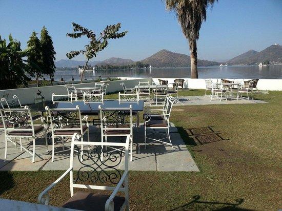 Raaj Bagh: Great View from the Raam Baug Restaurant !