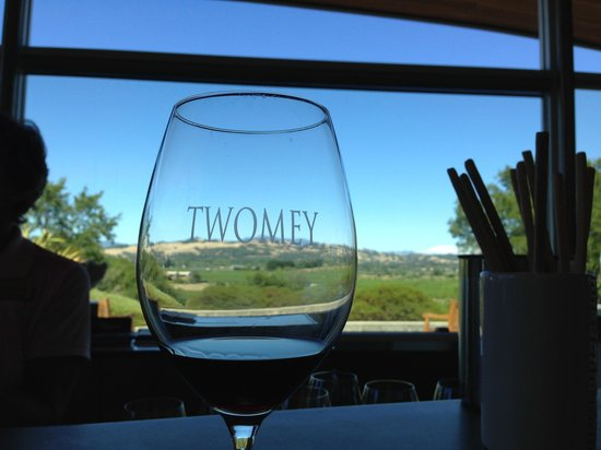 Twomey Cellars: the view through my glass :-)