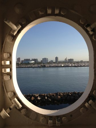The Queen Mary: A view to the Harbor