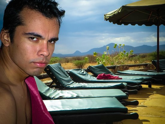 Samburu Sopa Lodge: Pool Side Break - Welcome relief after day of viewing Big 5 in a desert environment!
