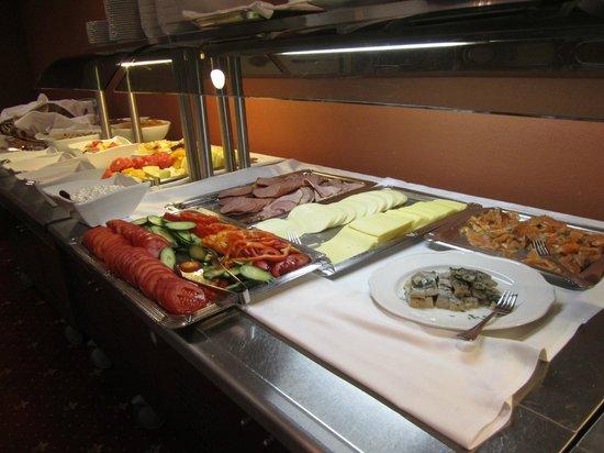 Breakfast buffet in Hotel Bern is versatile