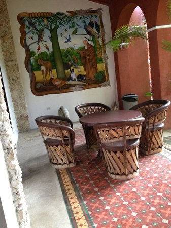 Casa Santiago: one of the several dining areas
