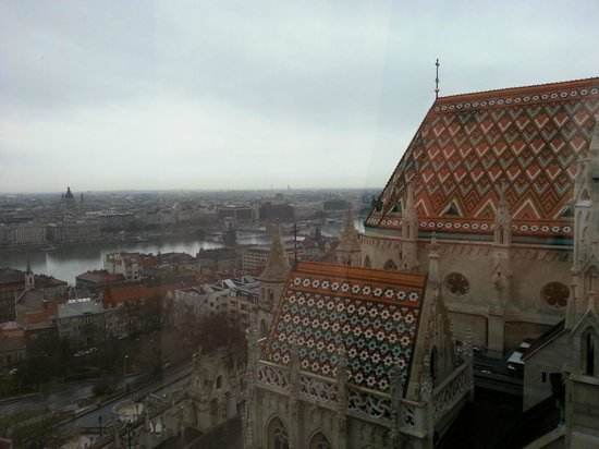 Hilton Budapest: our lovely view