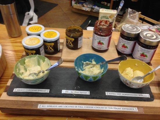 Grafton Village Cheese: stuffs for tasting