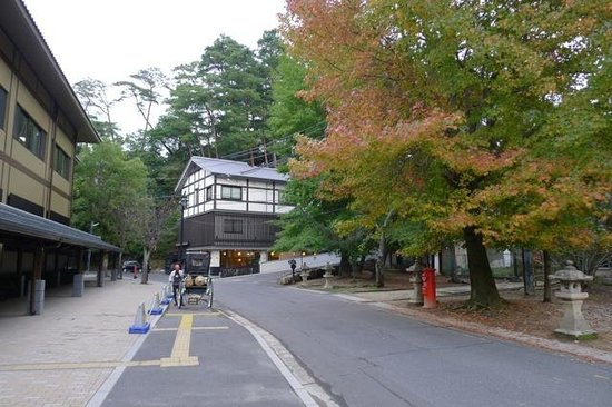 Ryosai no Oyado Mizuhaso: View of the Guest House, showing the Aquarium on the left