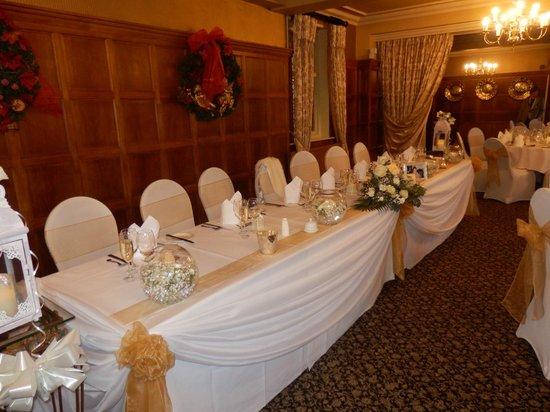 Ye Olde Bell Hotel & Restaurant: Top table