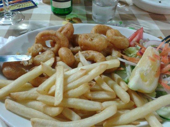 Georges Seafront Restaurant: Calamari rings