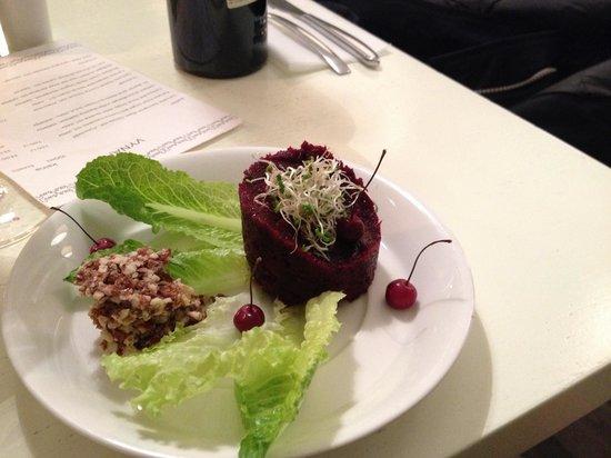 RawRaw: Raw beetroot  and Jerusalem artichoke pate