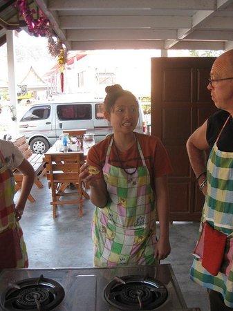 Napalai Thai Cuisine School: the chef Bunny