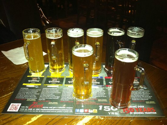 Frankenmuth Brewery: Flight of Beer - I highly recommend ordering this if it's your first visit!