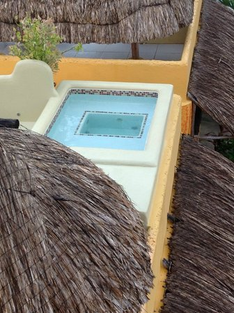 Seaside Cabanas: One of the five outdoor private hot tubs -- highly recommend