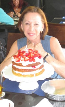 Old Fort Lauderdale Breakfast House: my birthday party with oven pancakes, strawberries and whipped cream