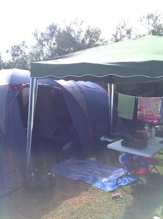 Hot Water Beach TOP 10 Holiday Park: our little campsite