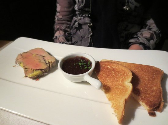 21 Boulevard : Terrine of Duck Foie Gras with fig chutney and toasted brioche