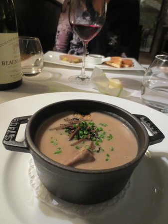 21 Boulevard : Not a fan of Chestnuts - but this Velouté of chestnuts with pan-fried foie gras and truffwas ama
