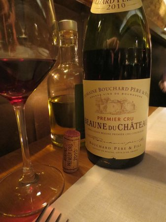 21 Boulevard: Not usually a Burgundy fan - But this Domaine Bourchard Pere & Fils Premier Cru 2010 was perfect