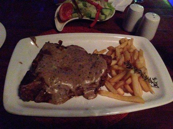 Rhapsody's: Peppered t bone steak