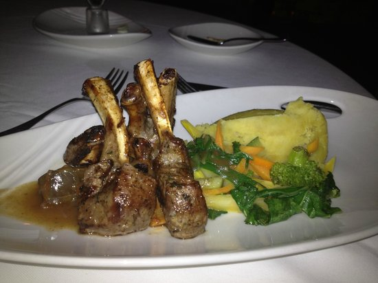 Couples Tower Isle: Lamb chops at Eight Rivers