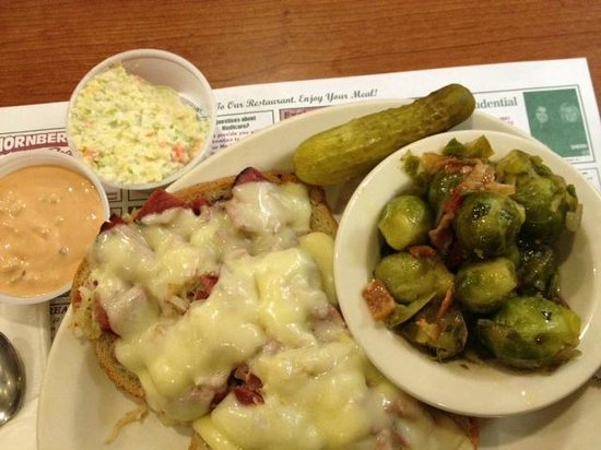 Park Place Diner & Restaurant: Open Face Reuben with Black Forest Brussels Sprouts