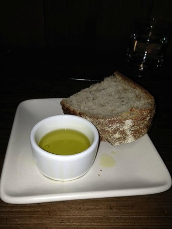 "Gather: acme bread & olive oil ""upon request""- see bottom of menu"