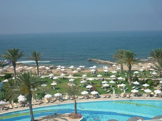 Constantinou Bros Athena Beach Hotel: View from top floor balcony