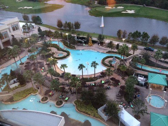 Hilton Orlando Bonnet Creek: Pool view from room