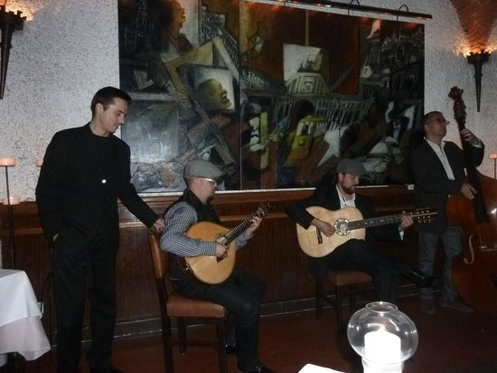 Cafe Luso: Fado singer with band