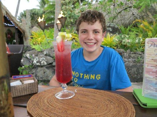 Pacific Resort Rarotonga: Mocktails for minors - Jake's Jungle Juice!