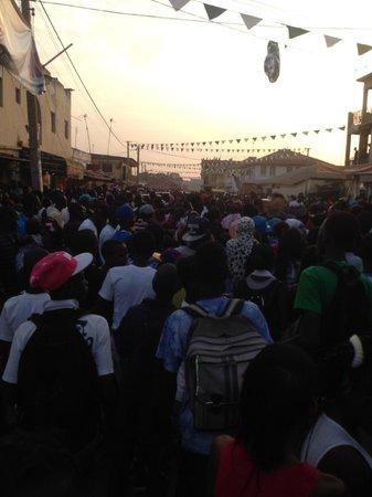 Laico Atlantic Banjul Hotel: Christmas day in Banjul...