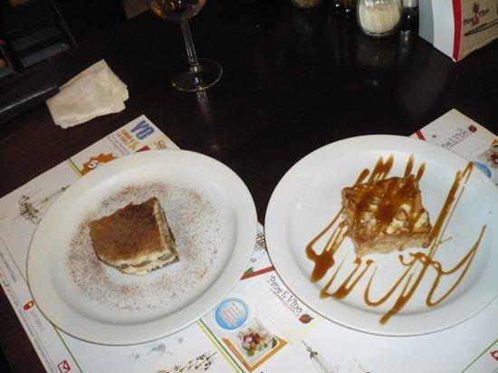 Pane e Vino: Tiramasu & almond cake