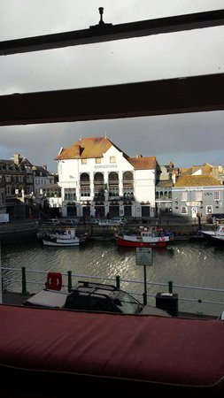 Rendezvous: View from our apartment.  A great pub