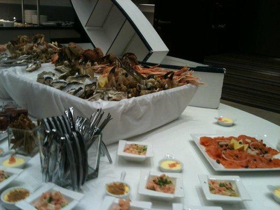 Hilton Strasbourg: Buffet du dimanche : le coin des fruits de mer