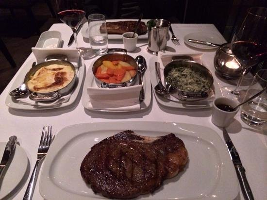 George Prime Steak: Bone In Rib Eye, was excellent and cooked to perfection.