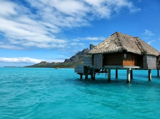 Four Seasons Resort Bora Bora: View from the OWB