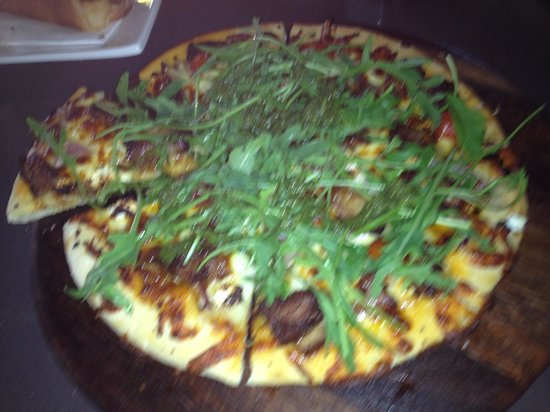 The Palais: Tender lamb pizza. Highly recommend!