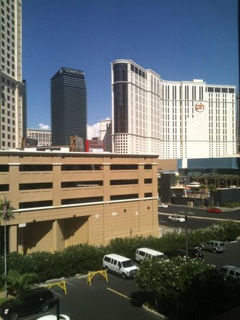 The Carriage House : View from our room (my review says Aria Hotel, I meant Cosmopolitan).