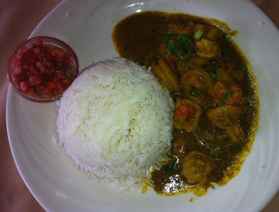 Ah youn : Curry crevettes