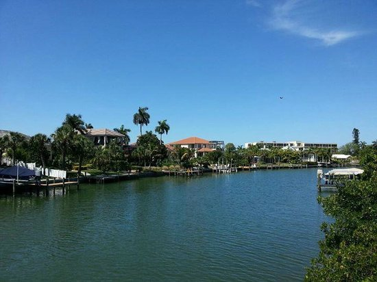 Lido Islander: This was the view from walking from the apt to the main circle area.  A three blocks walk.