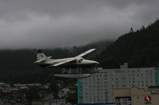 Ketchikan Duck Tour : Floatplane landing next to Duck