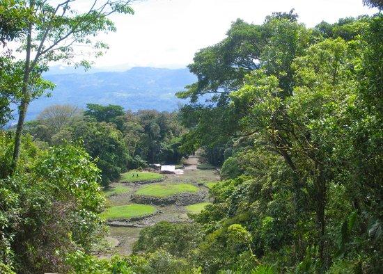 "Guayabo National Park and Monument: Vista general desde el ""mirador"""