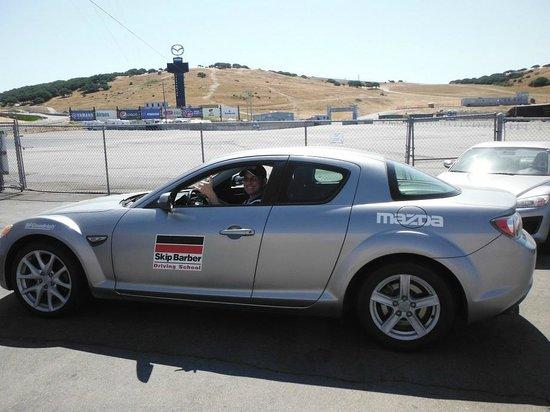 Mazda Raceway Laguna Seca: Carro da escola de pilotagem