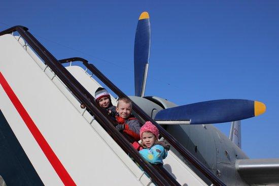 China Aviation Museum: 3 happy kids