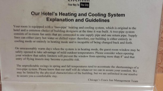 "Chicago's Essex Inn: ""Two-pipe"" heating and cooling system"