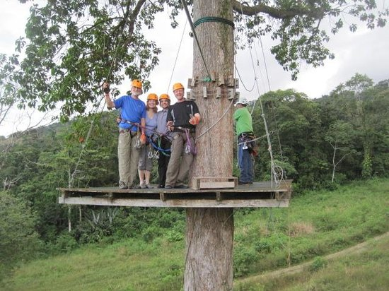 Arenal View Theme Park: Above the tree top....