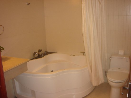 Alagon Central Hotel & Spa : Bath tub with Jacuzzi feature