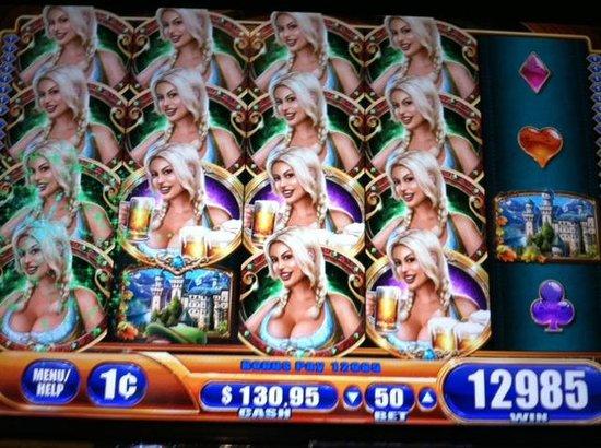 Wild Horse Pass Hotel & Casino: 55 Bonus spins winnings on 50-cent bet of Bier Haus slot machine