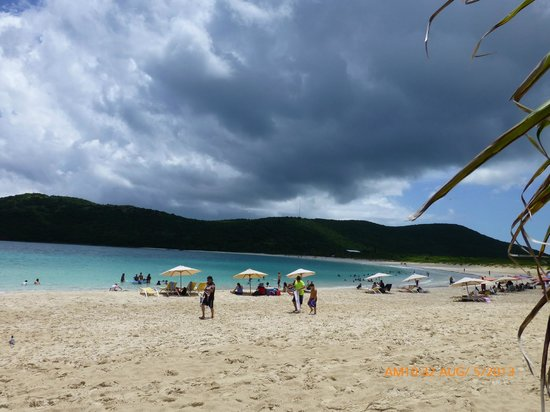 Playa Flamenco: Flamenco Beach, five minutes rain