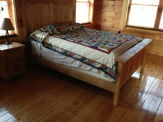 Rustic Cabins: thrown together bed
